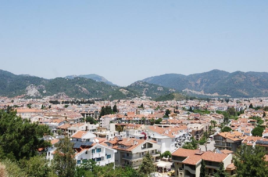 Типичный город турецкой ривьеры