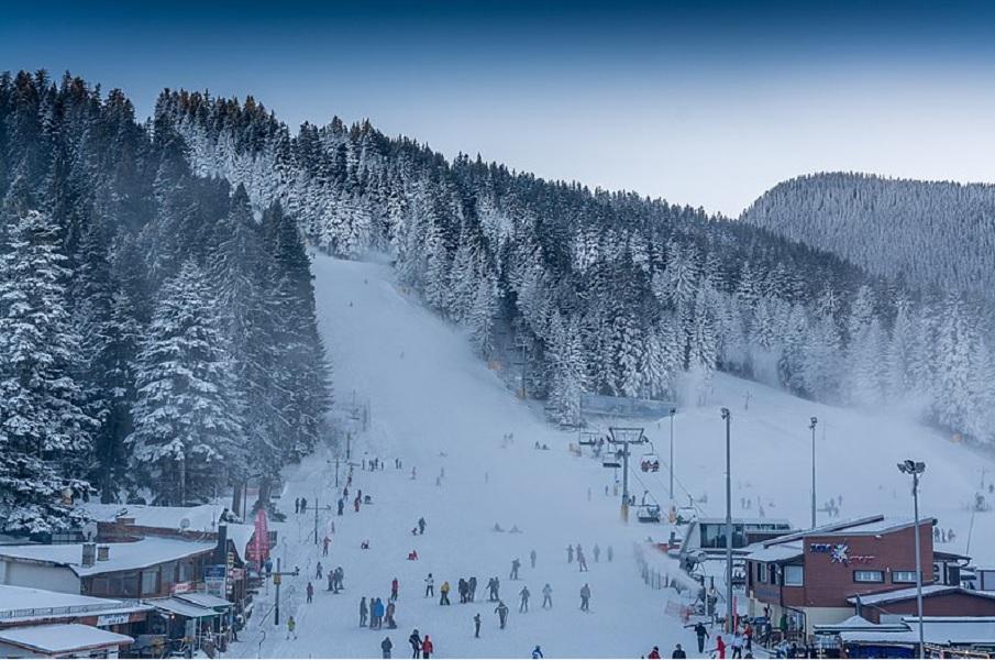 Зима на горнолыжным курорте Боровец