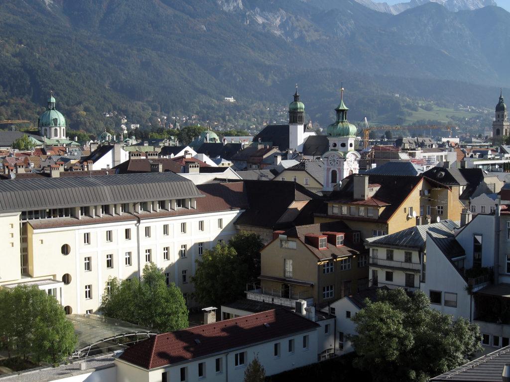 Инсбрук - панорамный вид