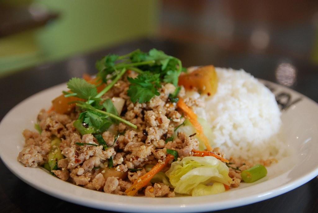 Ларб с рисом